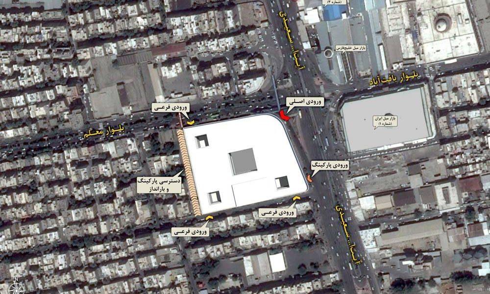 طراحی مجتمع تجاری فرهنگی یافتآباد - نقشه سایت پلان