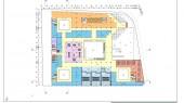 طراحی مجتمع تجاری فرهنگی یافتآباد - نقشه پلان طبقه چهارم
