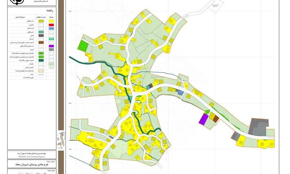 طرح هادی روستای شیروان محله - کاربری اراضی پیشنهادی روستا