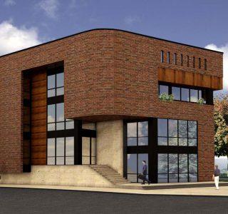 طراحی معماری فاز یک و فاز دو ساختمان اداری تصفیه خانه پنجم تهران - طرح سه بعدی