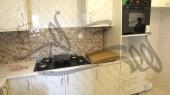 بازسازی واحد مسکونی - آشپزخانه - گاز و فر توکار اخوان ، کابینت های گلاس