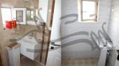 بازسازی واحد مسکونی - سرویس بهداشتی - کاشی سرامیک ، روشویی و باکس آینه - قبل و بعد از بازسازی