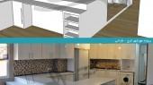 بازسازی ساختمان مهرشهر کرج - کابینت آشپزخانه