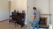 بازسازی ساختمان مهرشهر کرج - حذف شومینه
