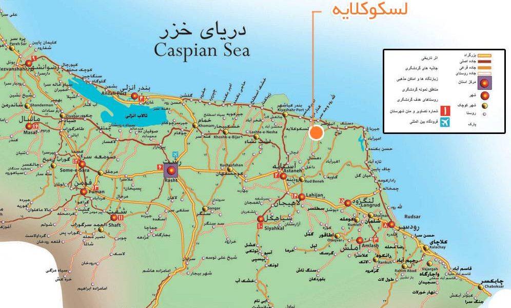 طرح توجیهی واحد اقامتی در نقشه استان گیلان
