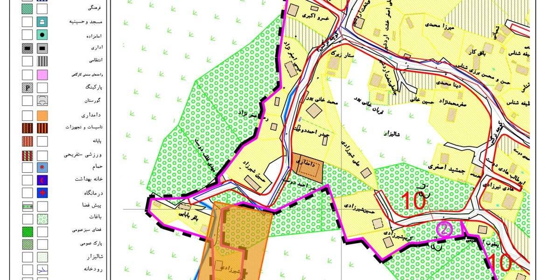 موقیعت طرح توجیهی واحد اقامتی در طرح هادی روستای لسکوکلایه