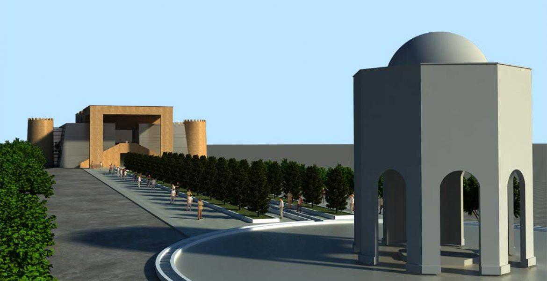 سه بعدی مرکز فرهنگی خرم آباد