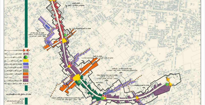 طراحی شهری خیابان - خیابان طالقانی شهر بم