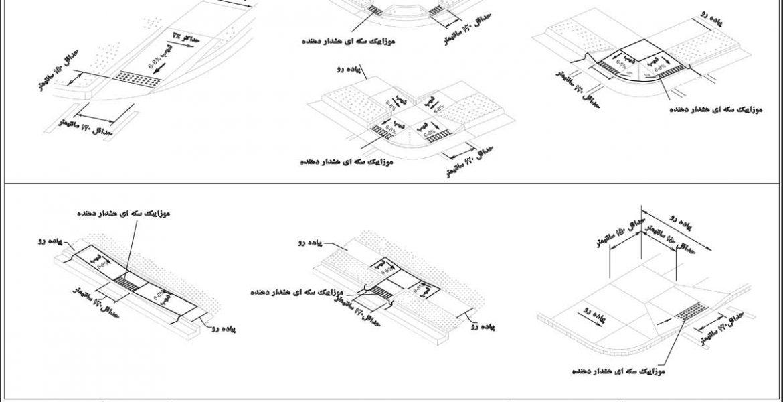 جزییات مناسب سازی فضای شهری برای توان یابان